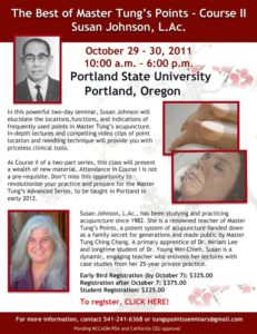 The Best of Master Tung's Points Course II at Portland State University